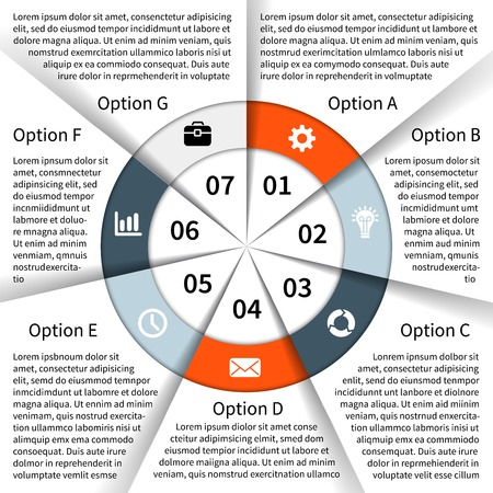 article marketing: Layout for your options or steps. Abstract template for background.