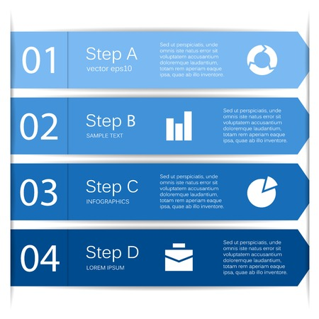 Layout for your options or steps. Abstract template for background.