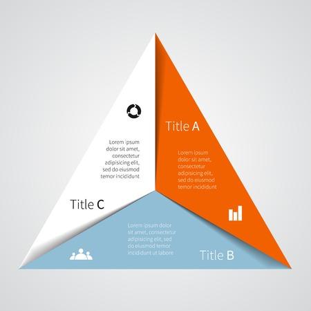 Mise en page de vos options ou des étapes Résumé de modèle pour le fond Illustration