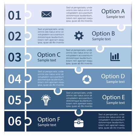 Layout for options or steps Abstract template for background. Vector