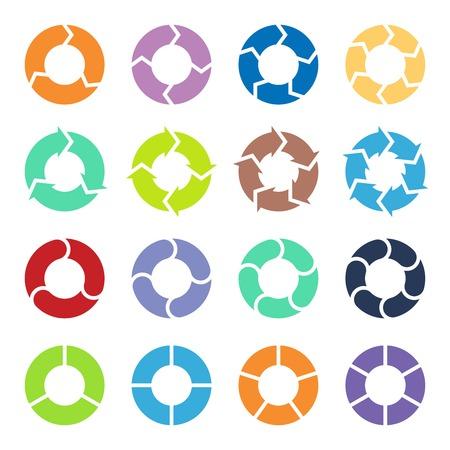 flechas: Layout para las opciones o pasos. Resumen plantilla de infograf�a. Vectores