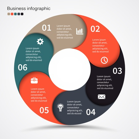 business cycle: Layout for options or steps. Abstract template for background. Illustration
