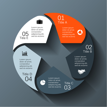 five star: Modern info graphic for business project Illustration