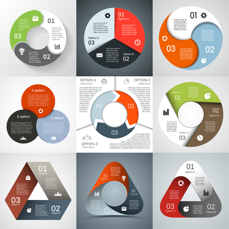 arrow circle: Modern vector info graphic for business project