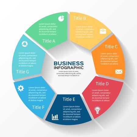 事業計画のための近代的なベクター情報グラフィック
