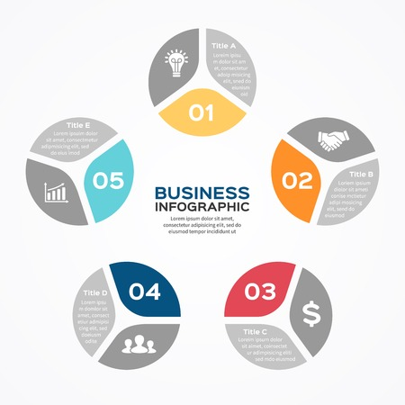 pentagon: Modern vector info graphic for business project