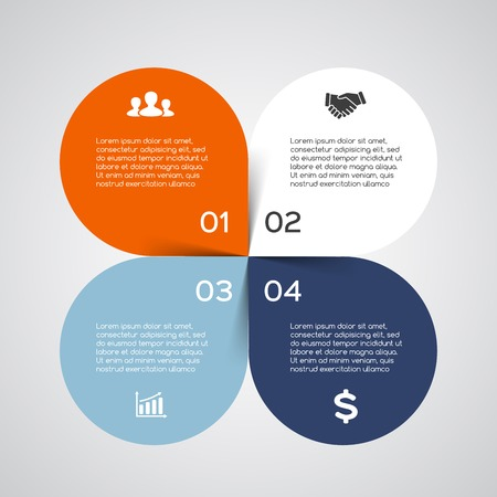 diagram: Modern vector info graphic for business project