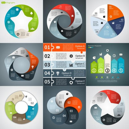 arrow icons: Modern vector info graphic for business project