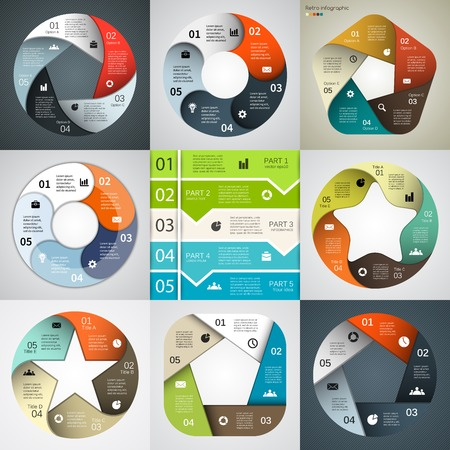 Modern vector infographics for business project