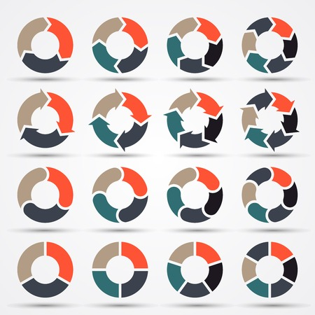 Vector circle arrows for business infographic, diagram, graph, chart
