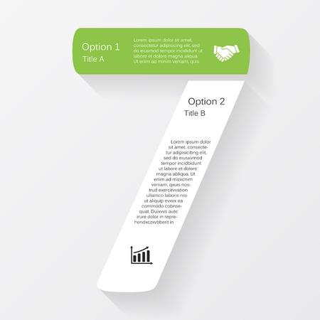 number seven: Vector business infographic, diagram, presentation
