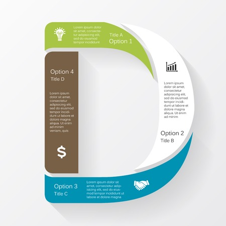 d data: Vector business infographic, diagram, presentation