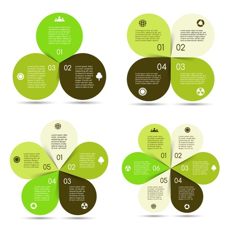 Vector circle eco infographics set Vector
