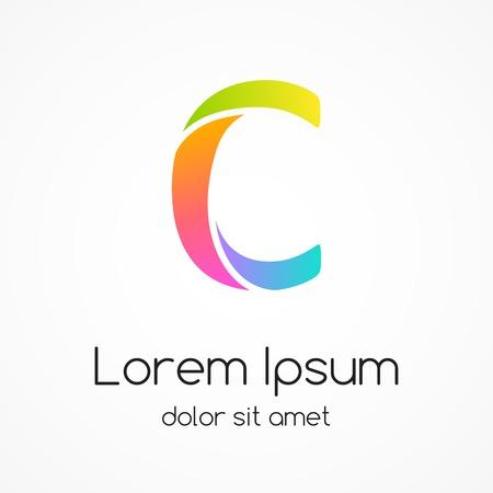 letter c: Logo letter C company vector design template.