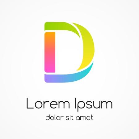 ロゴ文字 D 会社ベクトル デザイン テンプレートです。  イラスト・ベクター素材