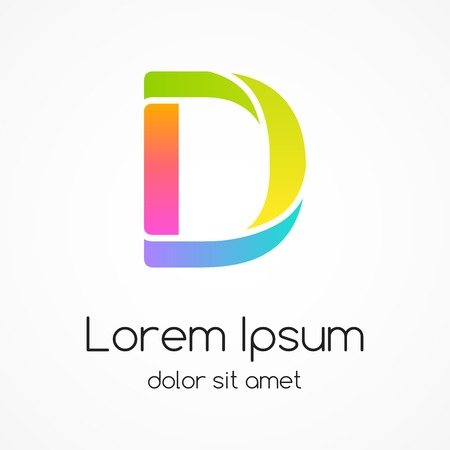 Logo letter D company vector design template. Vector