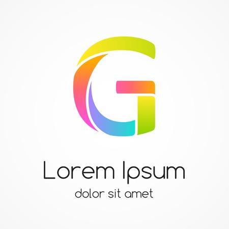 Logo letter G company vector design template.
