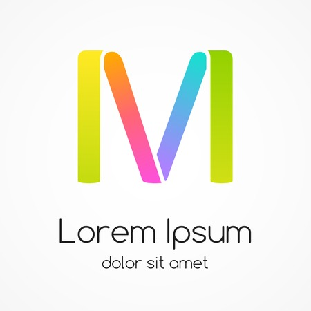 Logo letter M company vector design template. Vector