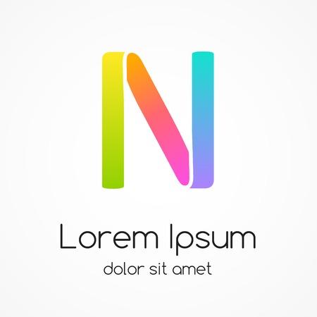 letter n: Logo letter N company vector design template.