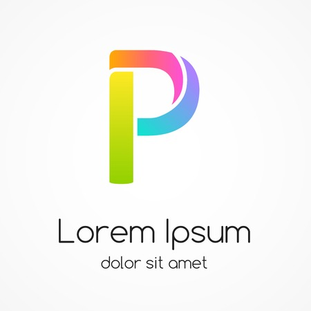 Logo letter P company vector design template. Vector
