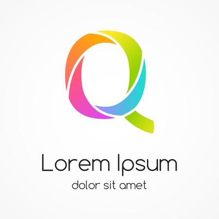 Logo letter Q company vector design template. Vector