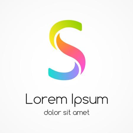 Logo letter S, company vector design template.