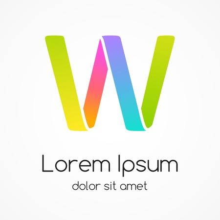 Logo letter W company vector design template. Vector