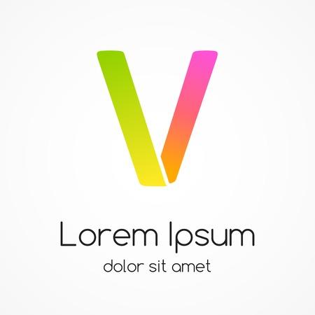Logo letter V company vector design template. Vector