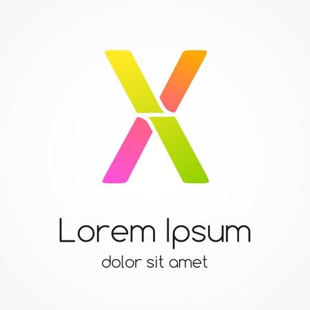 Logo letter X company vector design template. Vector