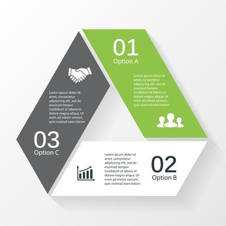 the diagram: Vector tri�ngulo infograf�a. Plantilla de diagrama, gr�fico, presentaci�n y gr�fico. Concepto de negocio con 3 opciones, partes, etapas o procesos. Resumen de antecedentes.