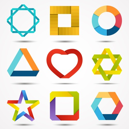 Abstract creative signs and symbols set. Logo template. Vector