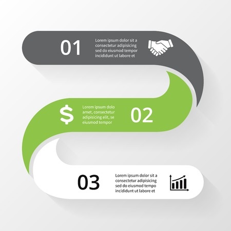 Vector lines infographic. Template for diagram, graph, presentation and chart. Business concept with 3 options, parts, steps or processes. Abstract background.