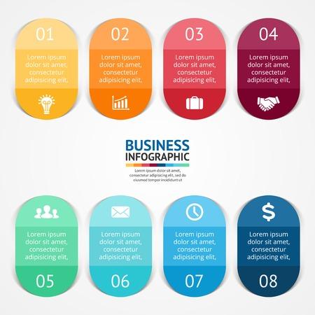 sjabloon: kleur stickers en labels voor infographic