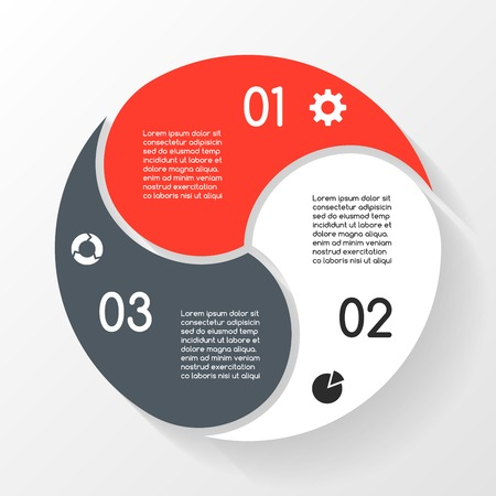 Vector circle infographic. Template for diagram, graph, presentation and chart. Business concept with 3 options, parts, steps or processes. Abstract background. Reklamní fotografie - 33971662