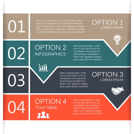 design concept: Vector arrows lines infographic. Template for diagram, graph, presentation and chart. Business concept with 4 options, parts, steps or processes. Abstract background.
