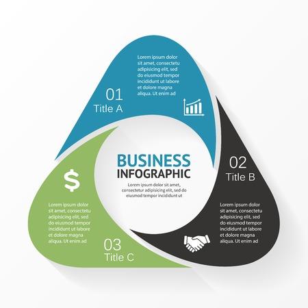 tecnologia informacion: Infograf�a Tri�ngulo, diagrama, 3 opciones, partes.