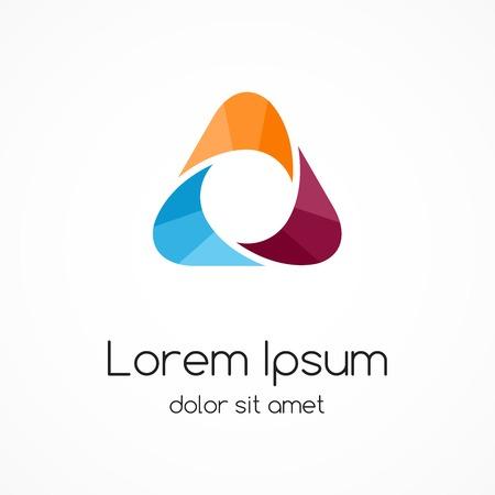 integrer: R�sum� mod�le de logo de couleur. signe Triangle.