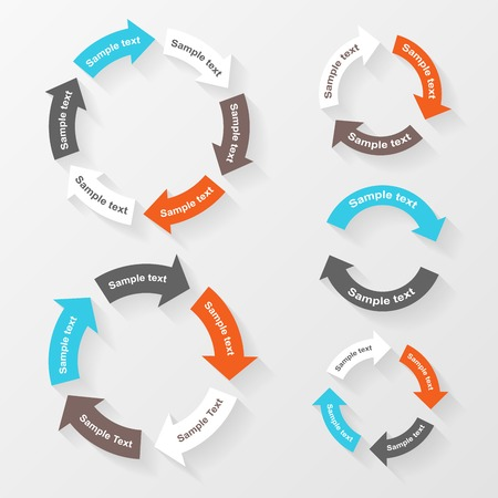 Circle: Vector circle arrows for infographic. Template for diagram, graph, presentation and chart. Business concept with 2, 3, 4, 5, 6 options, parts, steps or processes.