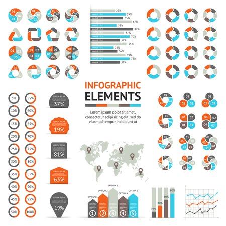 diagrama: Flechas del asunto infografía, diagrama, gráfico Vectores