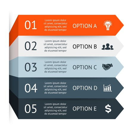 Business arrows infographic, diagram, graph Illustration