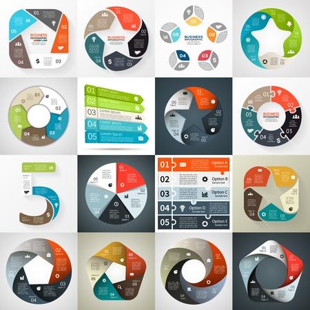 cercle d'affaires infographie, diagramme avec des options