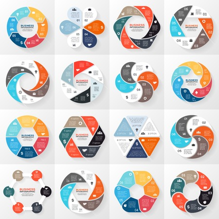 chart symbol: Business circle infographic, diagram with options Illustration