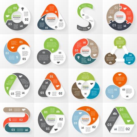 Esfera económica infografía, diagrama con opciones Foto de archivo - 35617885