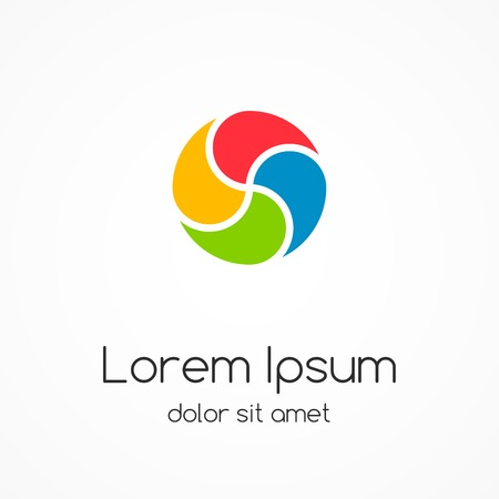 Logo template. Abstract circle creative sign. Ilustração