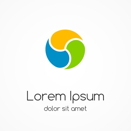 Logo template. Abstract circle creative sign. Illustration