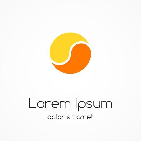 energy logo: Logo template. Abstract circle creative sign. Illustration