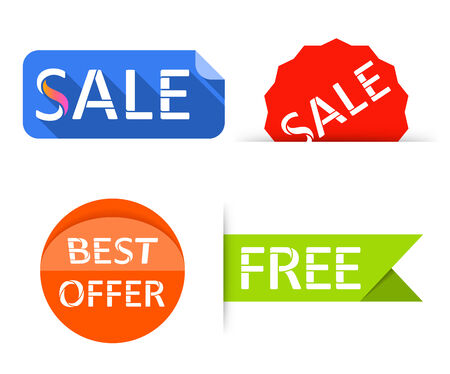 Sale labels, stickers. Shopping tags banners. Vector