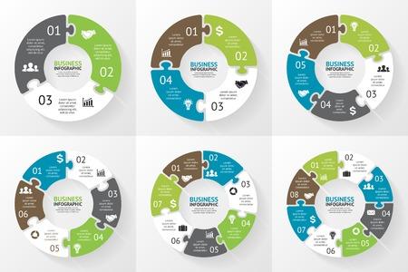 circular: Circle puzzle infographic. Diagram, presentation.