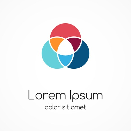asociacion: Logo plantilla. Resumen círculo signo creativo. Vectores