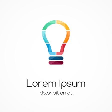 energy logo: Light buble logo. Idea brainstorm. Illustration